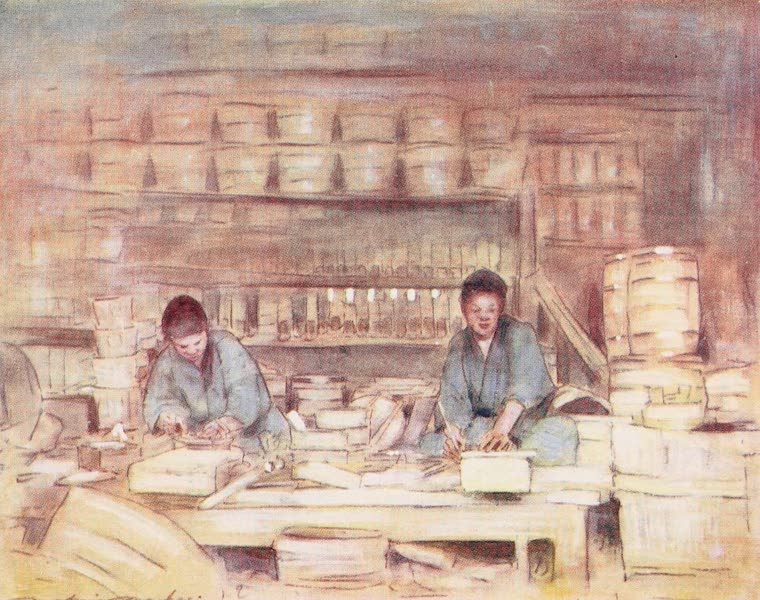 Japan : A Record in Colour - Carpenters at Work (1901)