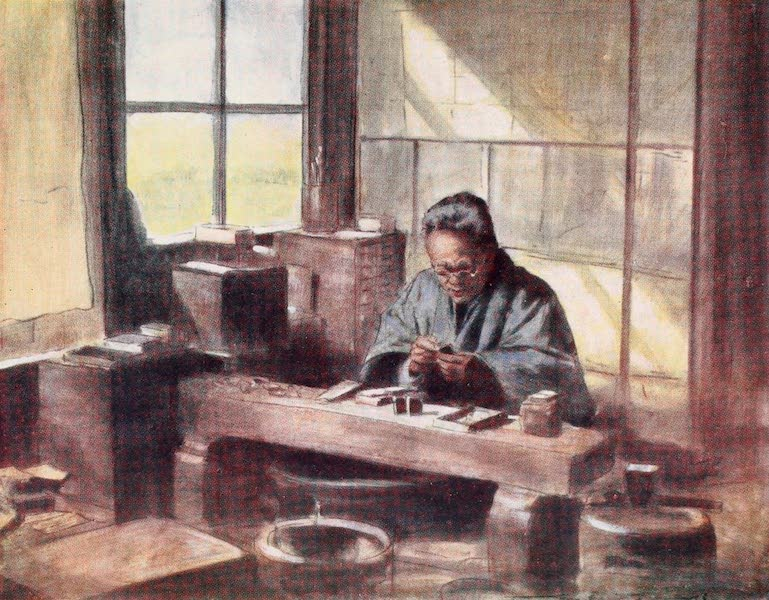 Japan : A Record in Colour - A Cloisonne Worker (1901)