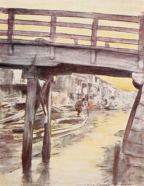 Japan : A Record in Colour - A Canal in Osaka (1901)