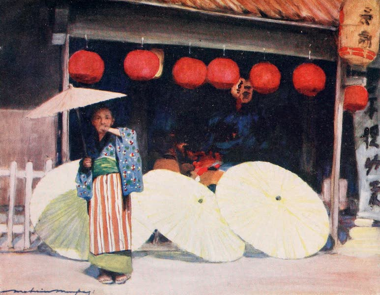 Japan : A Record in Colour - Umbrellas and Commerce (1901)