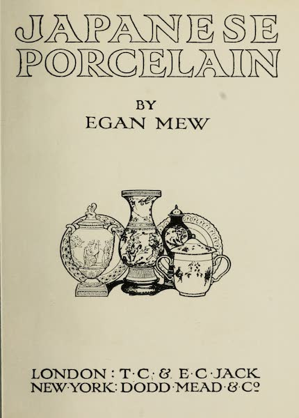 Japanese Porcelain - Title Page (1909)