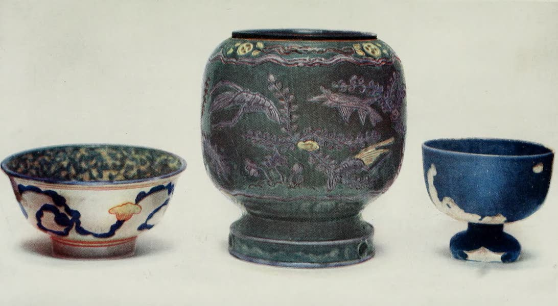 Japanese Porcelain - Three Coloured Bowls (1909)