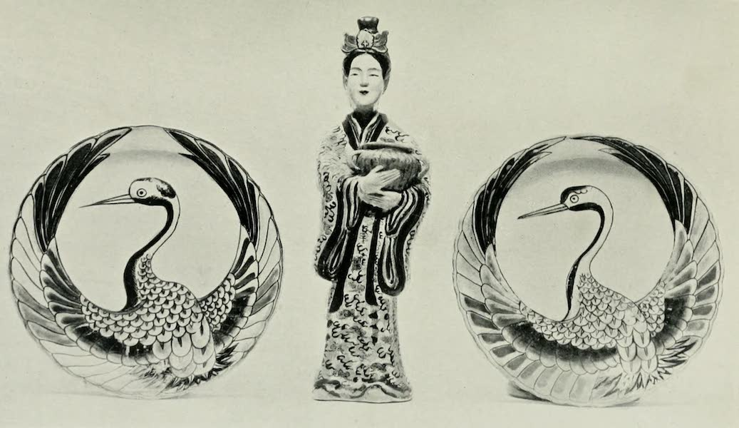 Japanese Porcelain - Imari Plates and Figure (1909)