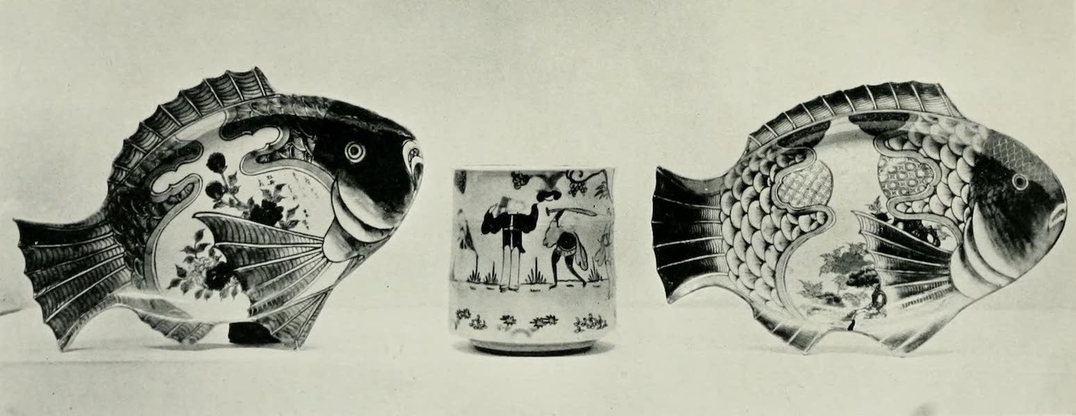 Japanese Porcelain - Fish Dishes and Vase (1909)
