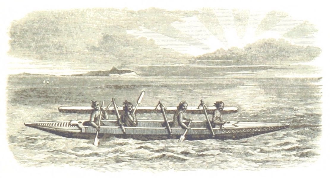Journal of a Cruise Among the Islands of the Western Pacific - Savage Island Canoe (1853)