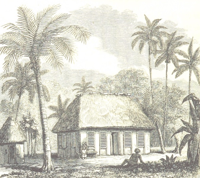 Journal of a Cruise Among the Islands of the Western Pacific - Church at Manua (1853)