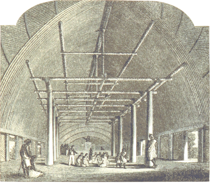 Journal of a Cruise Among the Islands of the Western Pacific - Interior of Tongan Church (1853)