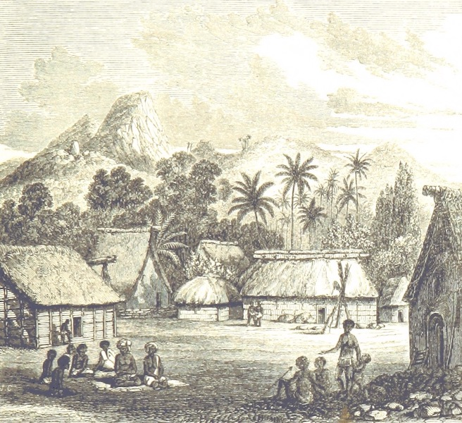 Journal of a Cruise Among the Islands of the Western Pacific - Feejeean Village of Levuka, Ovolau (1853)