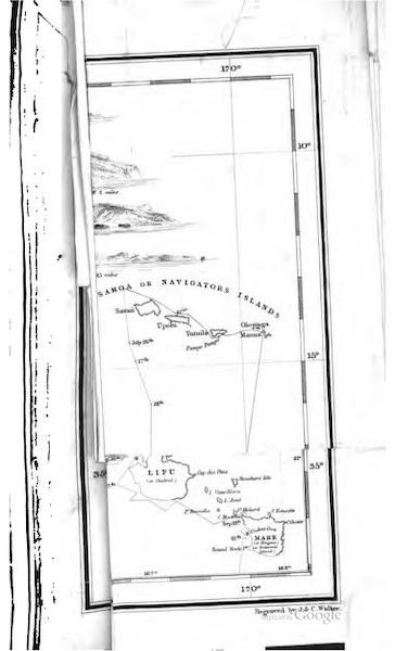 Journal of a Cruise Among the Islands of the Western Pacific - [Track of the H.M.S. Havannah Map] (1853)