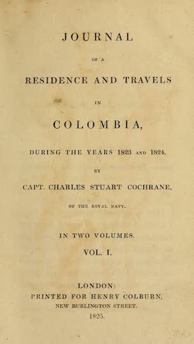 Aquatint & Lithography - Journal of a Residence in Colombia Vol. 1