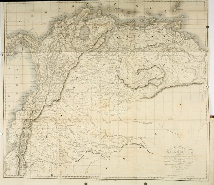 Journal of a Residence in Colombia Vol. 1 - A Map of Colombia (1825)