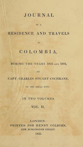 Aquatint & Lithography - Journal of a Residence in Colombia Vol. 2