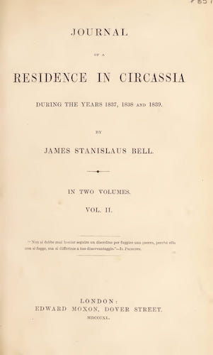 Journal of a Residence in Circassia Vol. 2 (1840)