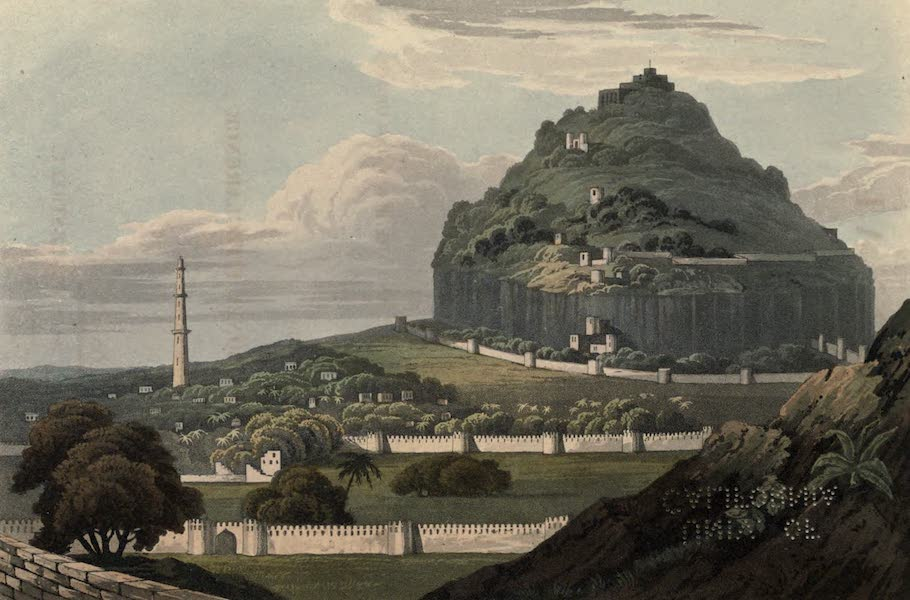 Journal of a Route Across India - Pettah The Citadel, & Pettah of Dowlutabad, a Fortress belonging to the Nizam, near Aurungabad (1819)