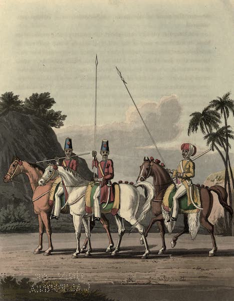 Journal of a Route Across India - Irregular Cavalry, Bengal Army 1817. Rhohilla Horse & Skinners Horse (1819)
