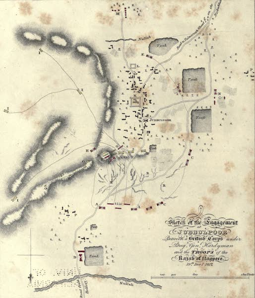 Journal of a Route Across India - Sketch of the Engagement at Jubbulpoo (1819)