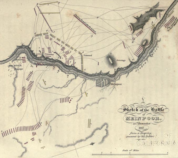 Journal of a Route Across India - Sketch of the Battle of Meinpoor (1819)