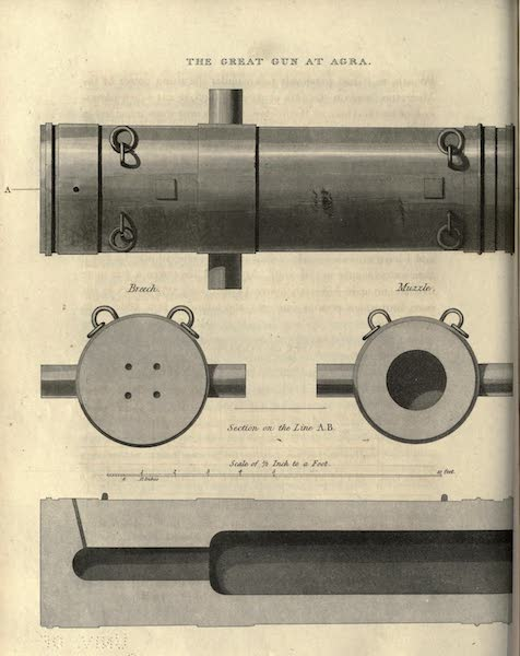 Journal of a Route Across India - The Great Gun at Agra (1819)