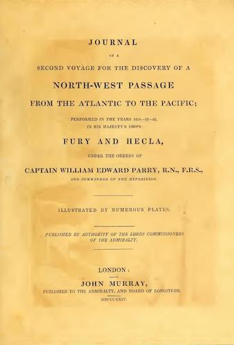 Aquatint & Lithography - Journal of a Second Voyage for the Discovery of a North-West Passage