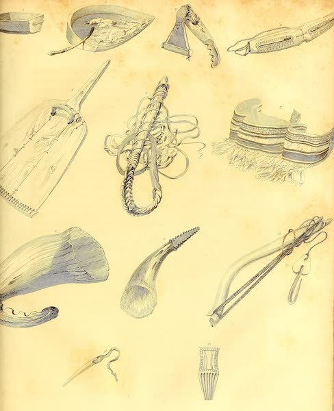 Esquimaux Implements, Weapons, &c.(Fig. 1 to 12.)