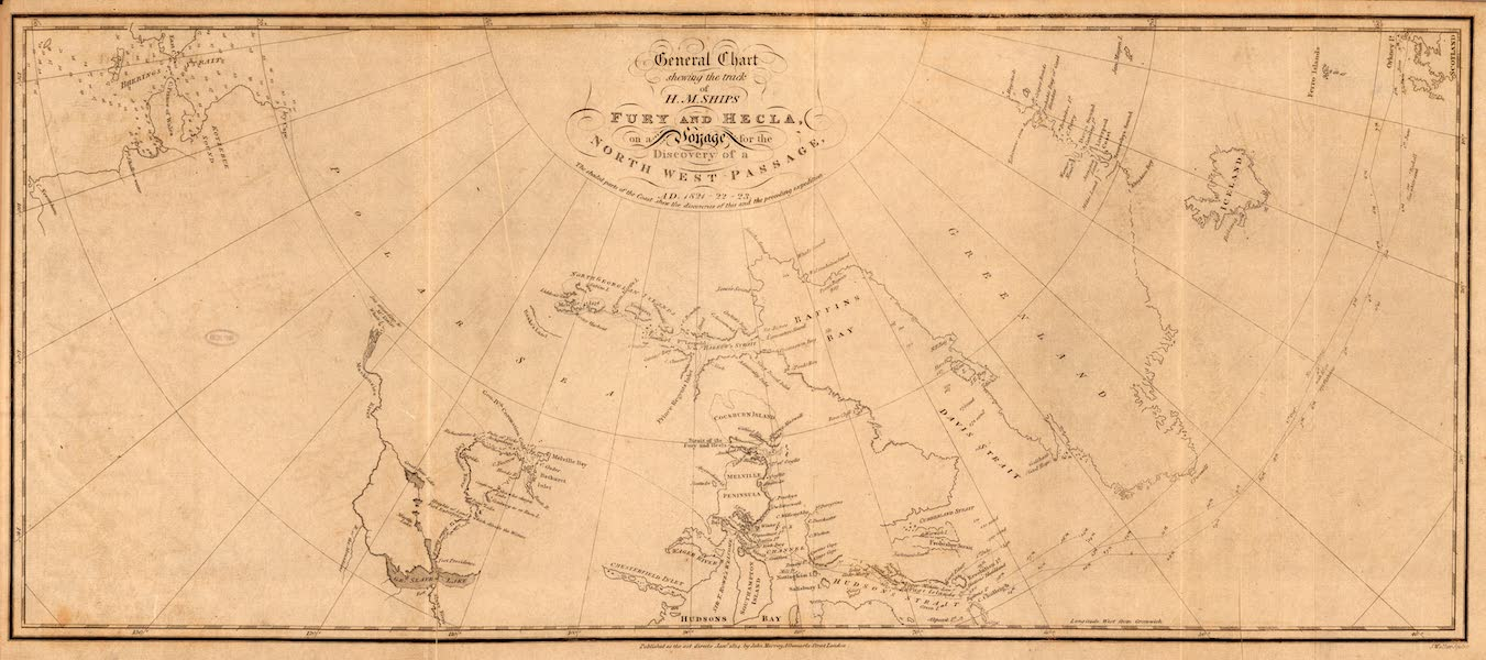 General Chart, shewing the track of the Fury and Hecla, &c. &c.