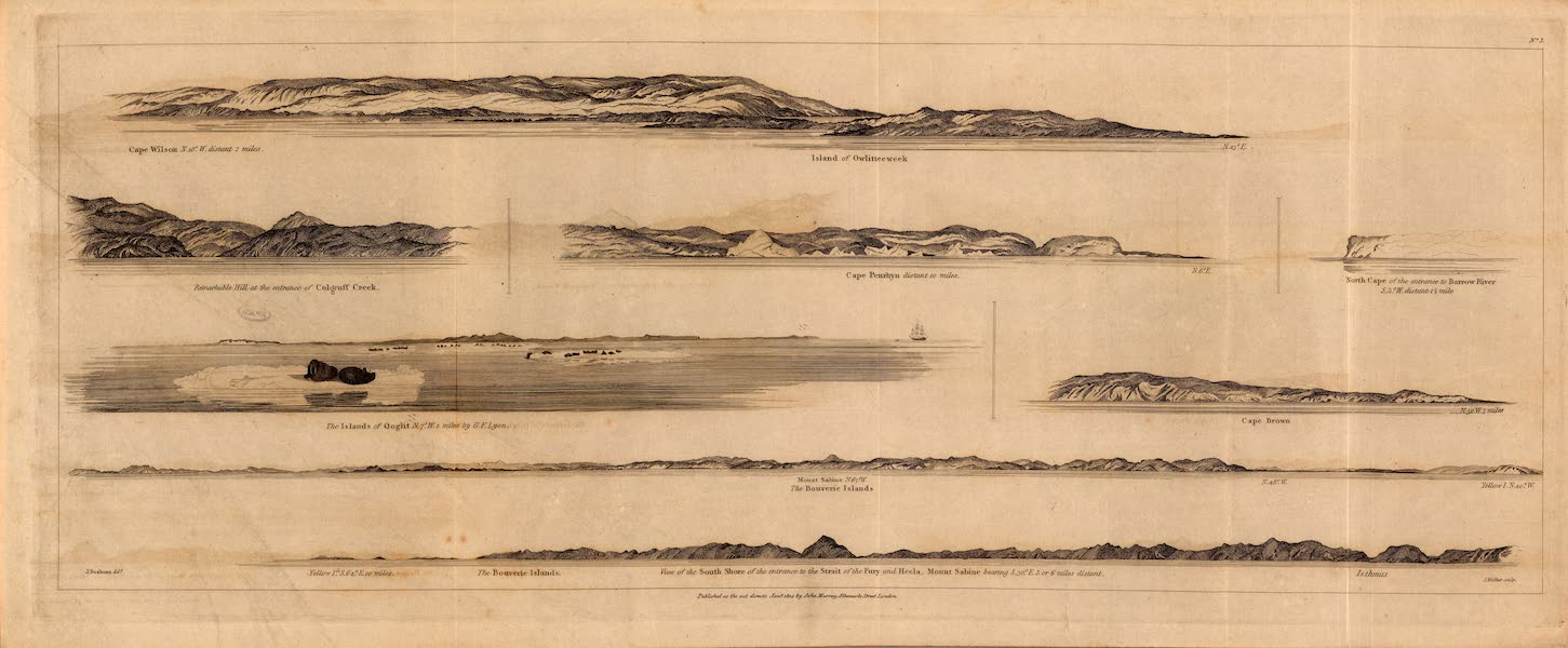 Journal of a Second Voyage for the Discovery of a North-West Passage - Appearances of Lands, No. 3. (1824)