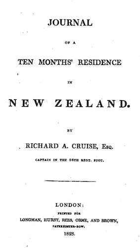 Aquatint & Lithography - Journal of a Ten Months' Residence in New Zealand