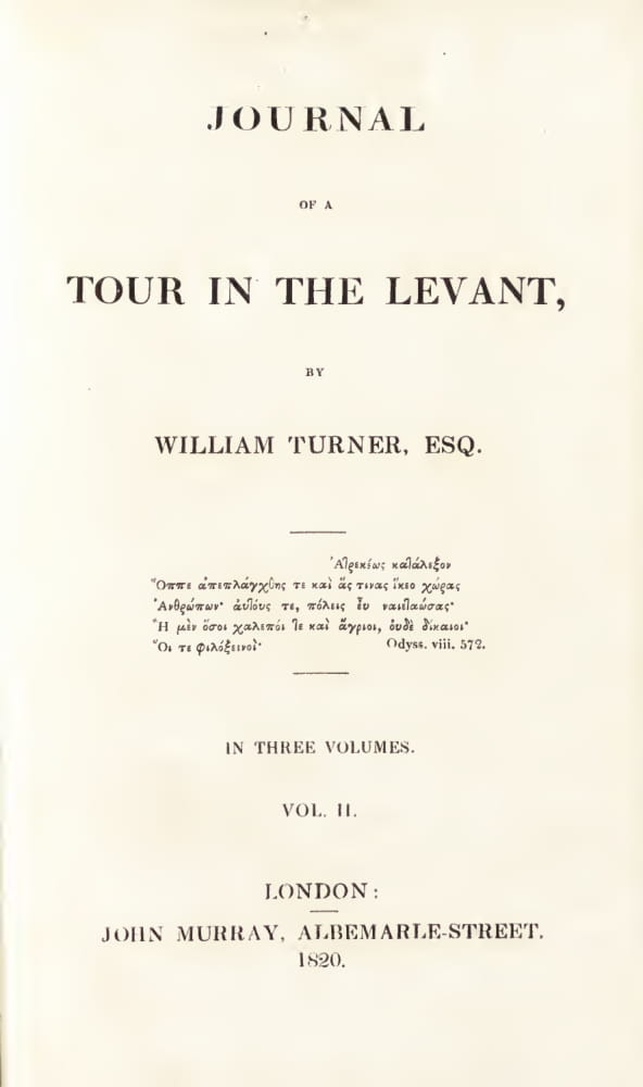 Aquatint & Lithography - Journal of a Tour in the Levant Vol. 2