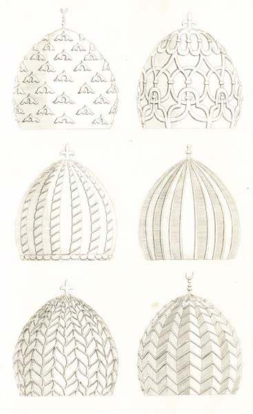Journal of a Tour in the Levant Vol. 2 - Domes of the Tombs of Caliphs at Cairo (1820)