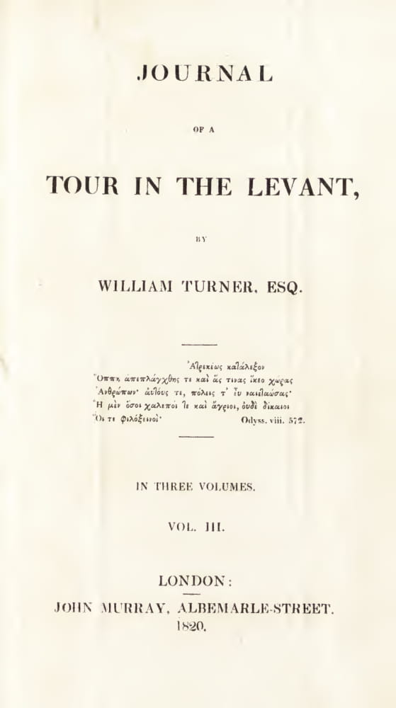 Aquatint & Lithography - Journal of a Tour in the Levant Vol. 3