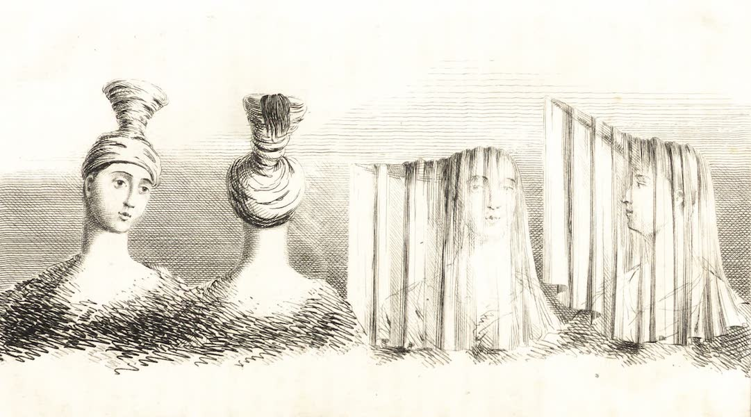 Journal of a Tour in the Levant Vol. 3 - Head Dress of the Women of Mitylen and Maronite Women of Mount Lebanon (1820)