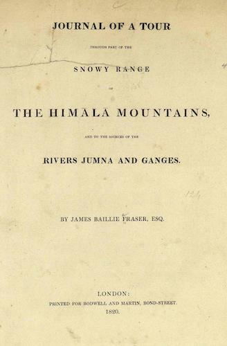 English - Journal of a Tour through Part of the Snowy Range of the Himala Mountains