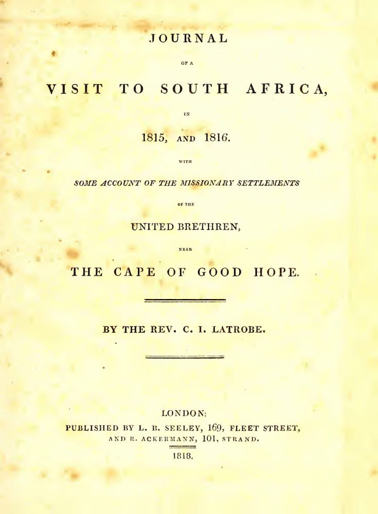 English - Journal of a Visit to South Africa