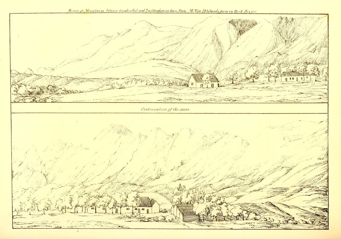 Journal of a Visit to South Africa - Range of Mountains (1818)