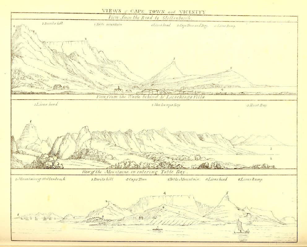 Journal of a Visit to South Africa - Views of Cape Town and Vicinity (1818)