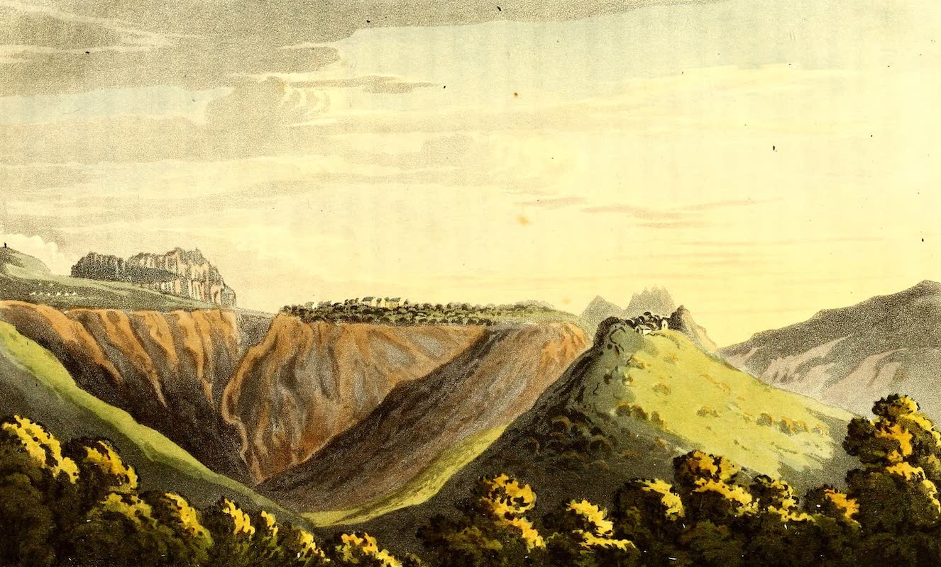 Journal of a Visit to South Africa - Distant View of Longwood, St. Helena, across the Devil's Punch-bowl (1818)