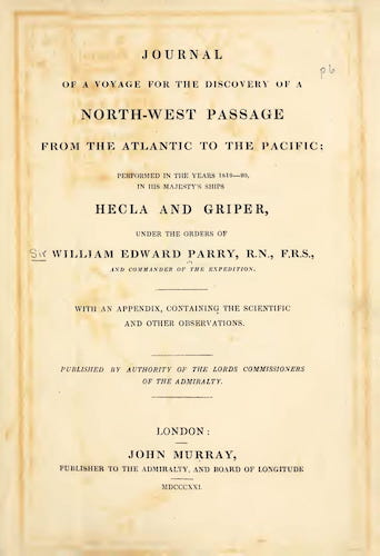 English - Journal of a Voyage for the Discovery of a North-West Passage