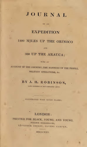 Andes - Journal of an Expedition 1400 miles up the Orinoco