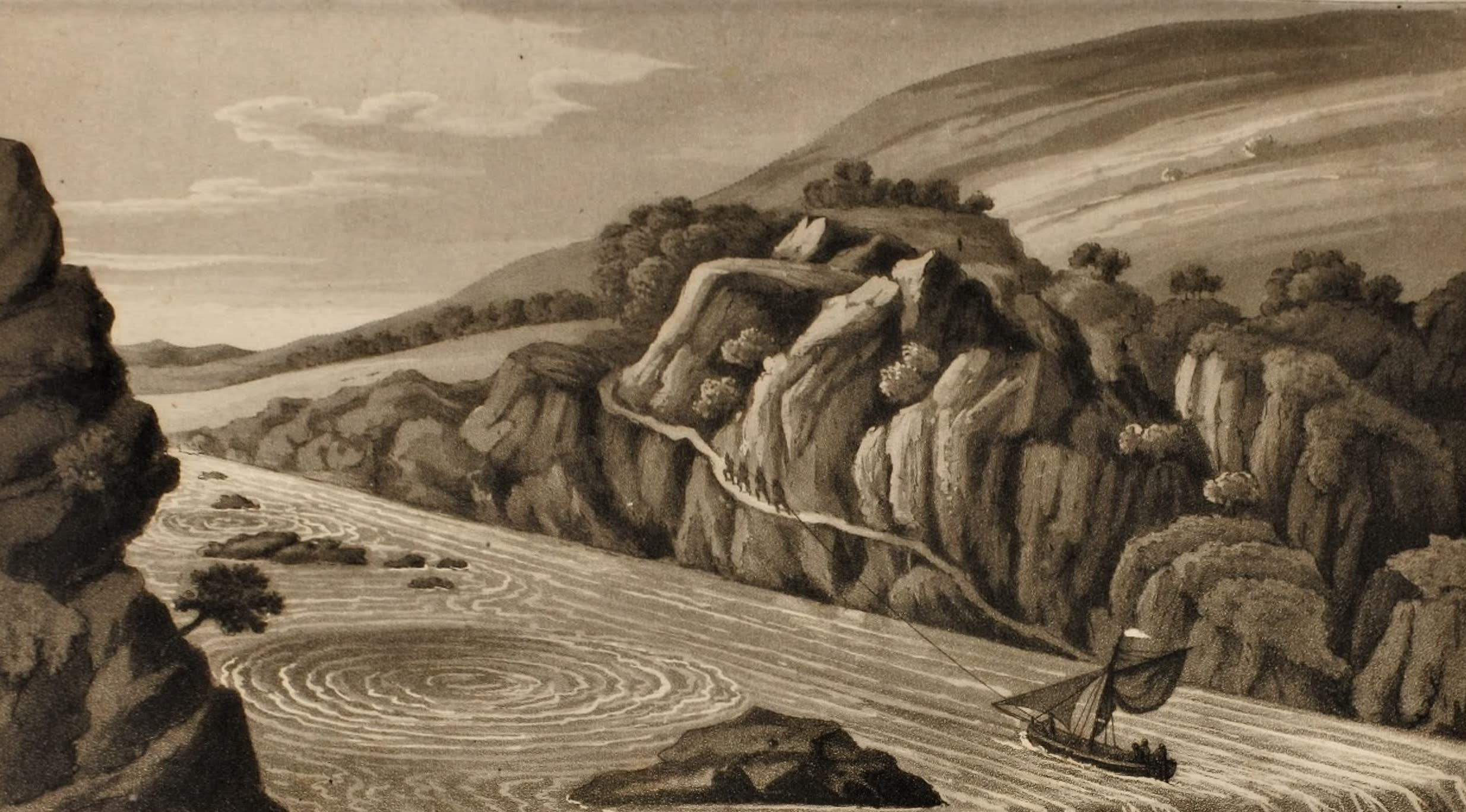 Journal of an Expedition 1400 miles up the Orinoco - Bocas del Inferno - Whirlpool on the Orinoco (1822)