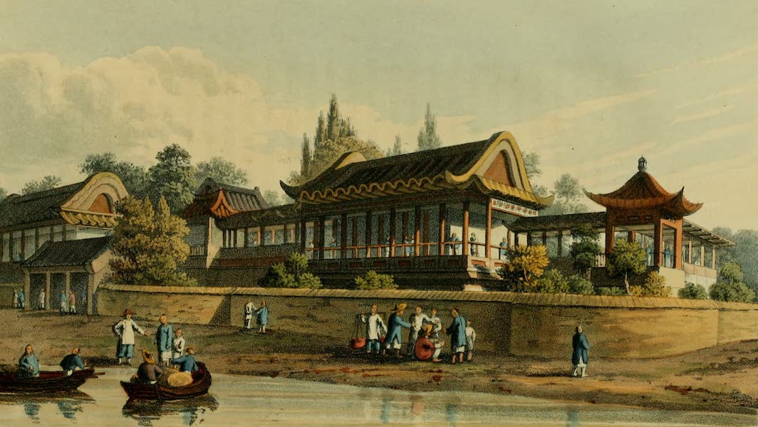 Journal of the Proceedings of the Late Embassy to China - Summer Palace of the Emperor opposite the City of Tien-Sing (1817)