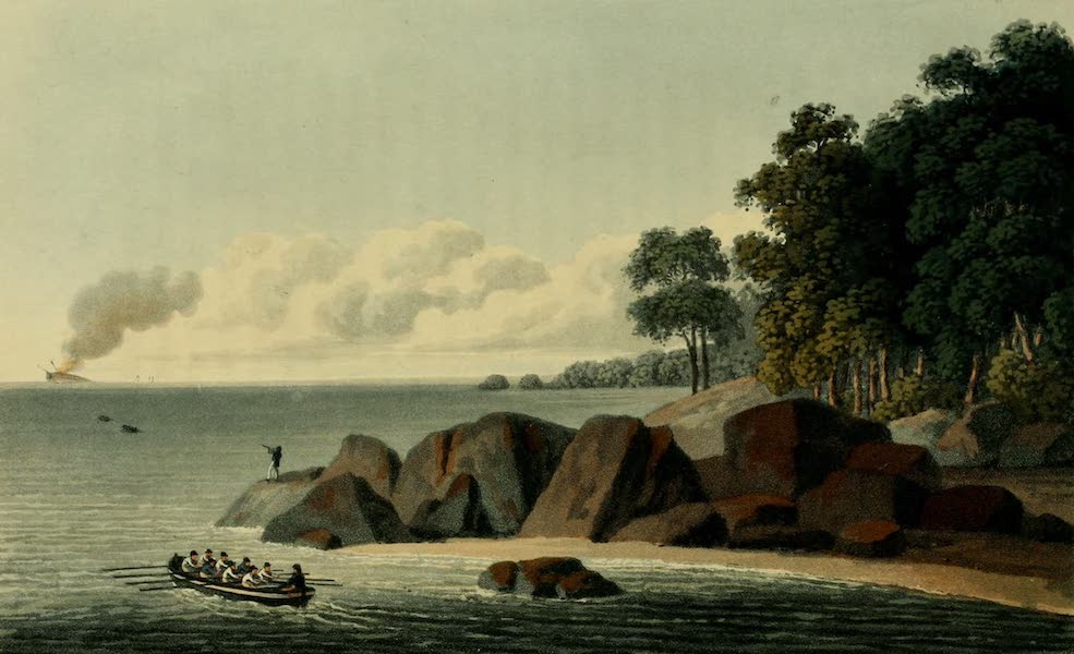 Journal of the Proceedings of the Late Embassy to China - View, Island of Pulo Leat (1817)