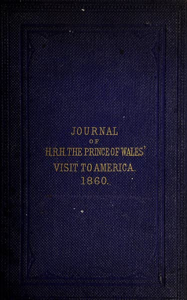 Journal of the Progress of H.R.H. the Prince of Wales - Front Cover (1860)
