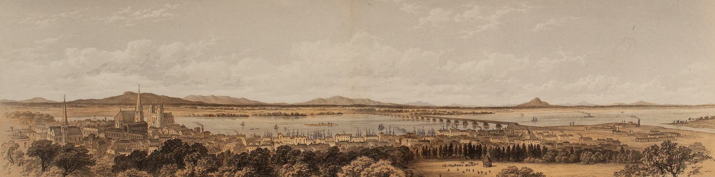Journal of the Progress of H.R.H. the Prince of Wales - Montreal from the Prince's Balcony (1860)