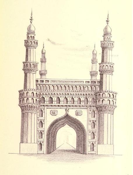 The Chuhair Minar Gate of Hyderabad