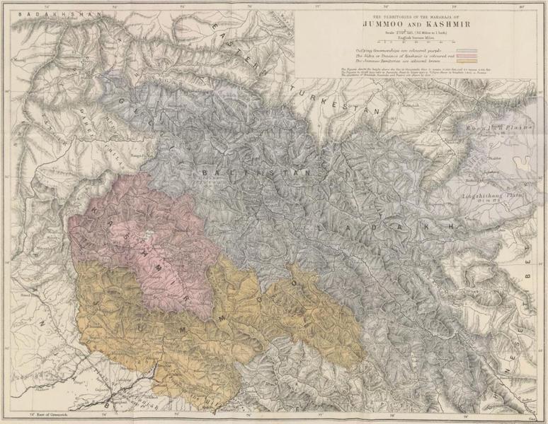The Territories of the Maharaja of Jummoo and Kashmir
