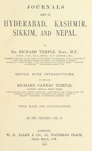 English - Journals Kept in Hyderabad, Kashmir, Sikkim, and Nepal Vol. 2