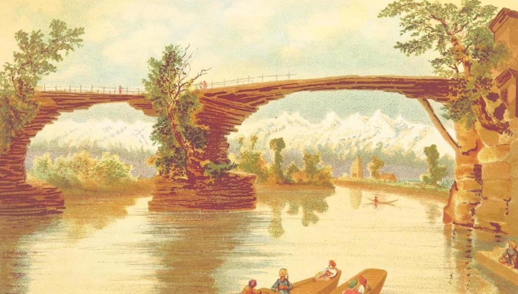 Journals Kept in Hyderabad, Kashmir, Sikkim, and Nepal Vol. 2 - Kadal Bridge Over the Jhelam at Bijbihara (1887)