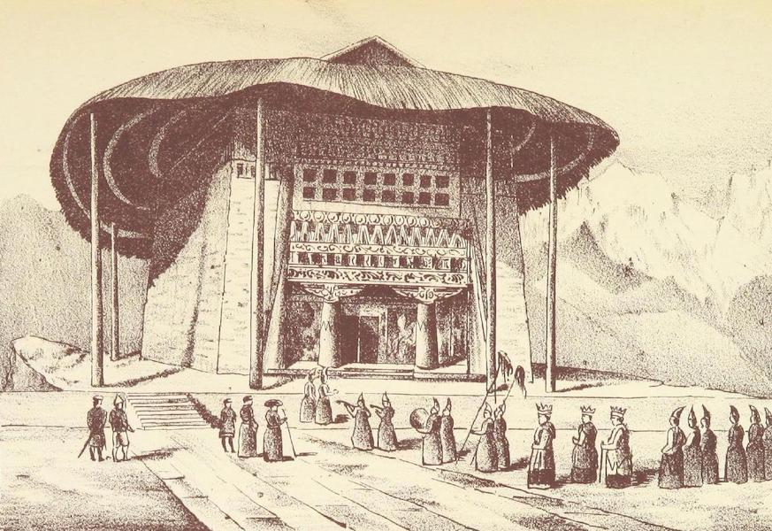 Journals Kept in Hyderabad, Kashmir, Sikkim, and Nepal Vol. 2 - Exterior of a Buddhist Temple at Penyangchi (1887)