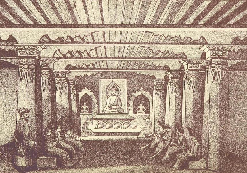 Journals Kept in Hyderabad, Kashmir, Sikkim, and Nepal Vol. 2 - Interior of a Buddhist Temple at Penyangchi (1887)