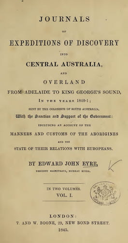 English - Journals of Expeditions of Discovery into Central Australia Vol. 1